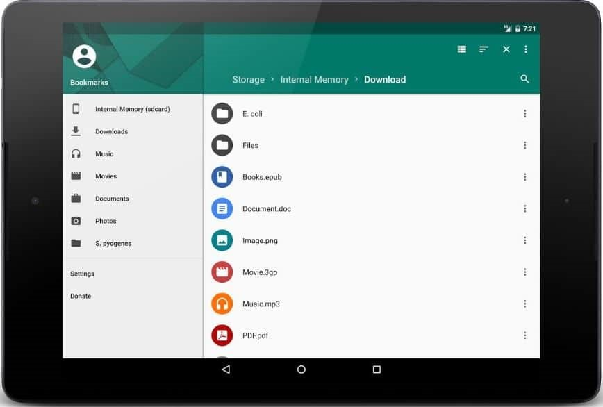 MK file manager for android