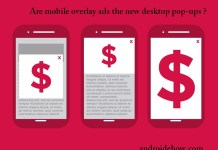 Are mobile overlay ads the new desktop pop-ups