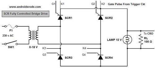 Single Phase Fully Controlled Bridge Power Circuit