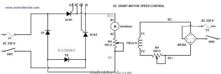 DC Shunt Motor Speed Control Circuit