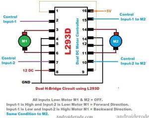 DC Motor Dual HBridge ICL293D