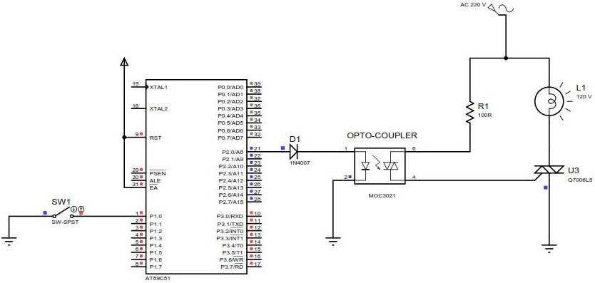 Triac interfacing with Microcontroller