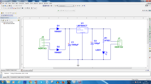 small resolution of remove input transformer and output multimeter with replacement of connector as per diagram change the properties of all component into pcb mode