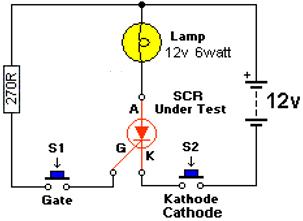 SCR Testing Circuit