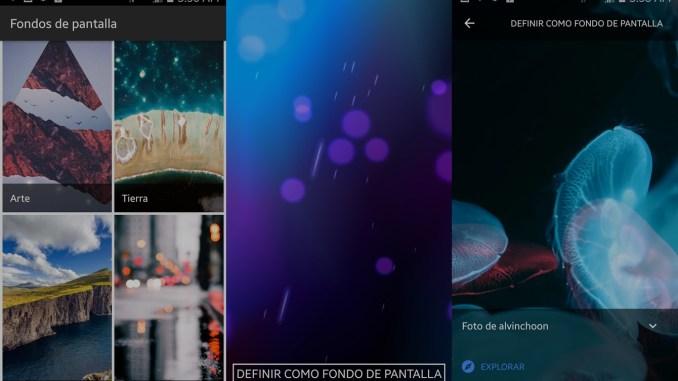 Variedad de fondos de pantalla para android