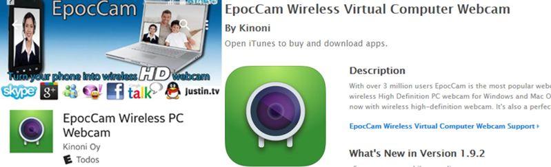 Descargar EpocCam Android e ios