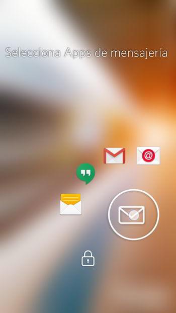 Acceso rápido en aplicaciones de mensajerías