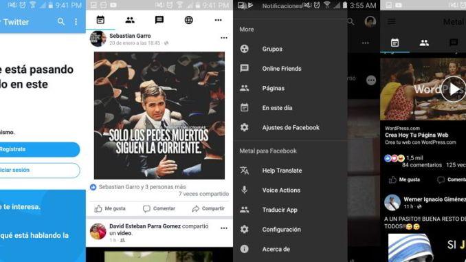 Facebook y twitter en una sol app