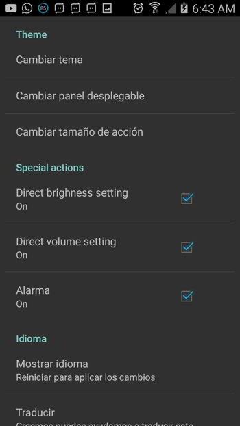 Configuración AntTek Quick Settings