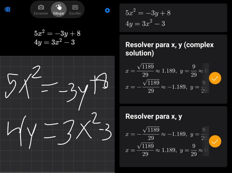 Ecuaciones con dibujo en Microsoft Math