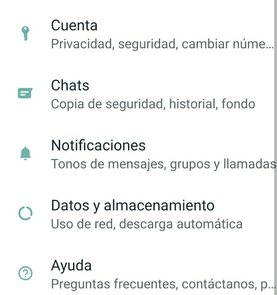 Ajustes WhatsApp