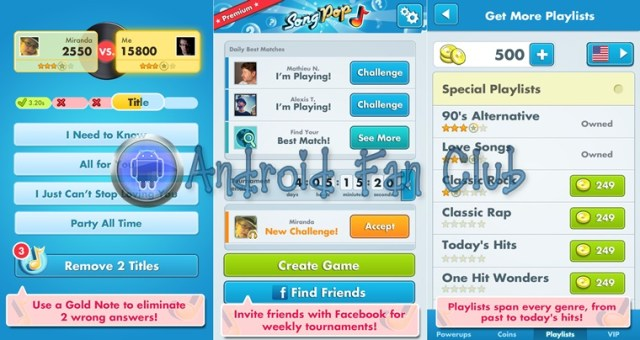 SongPop Premium for Android smartphones & tablets