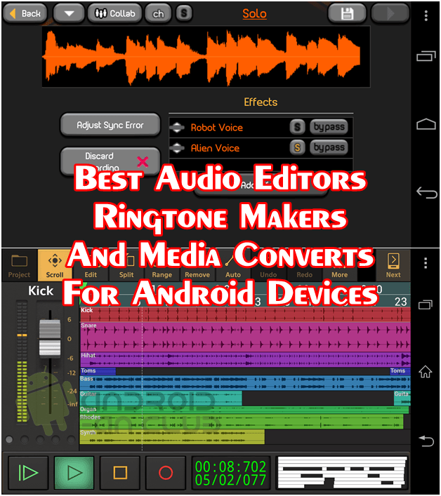 Top 5 Best Audio Editing Apps For Android Devices