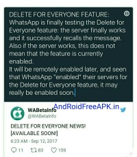 upcoming latest Android update of WhatsApp Feature androidfreeapk.in