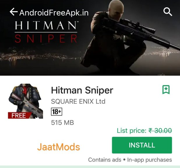 Download Hitmam Sniper mod apk from onhax rexdl apkmania unlimited coins unlimited score open weapon unlocked