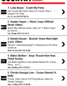 Country music chart and youtube free apk android app freeware also itunes charts nehabedeemperor rh