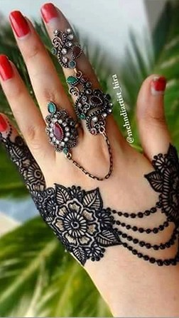Finger Mehndi Design New