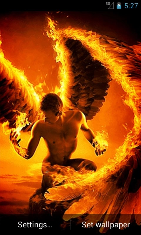 Fire Angel Live Wallpaper Android App APK By Andapplique