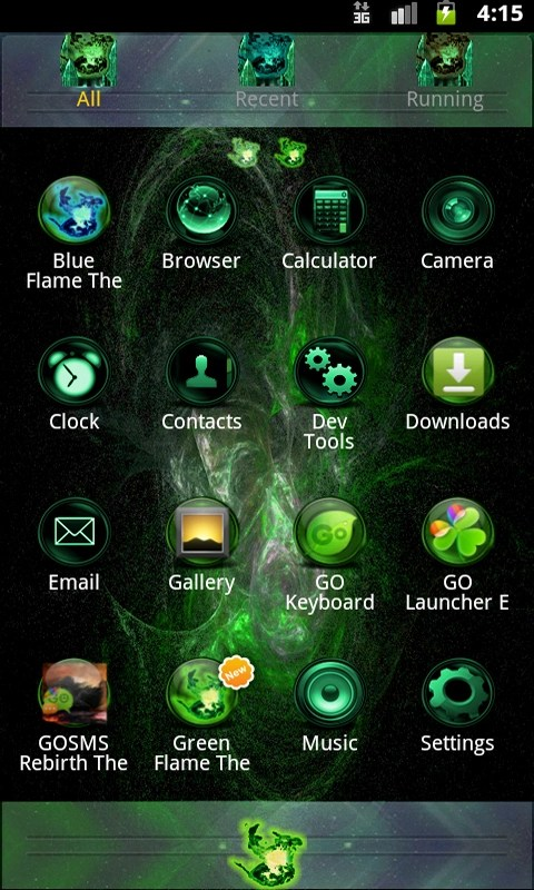 Green Flame GO theme APK download for Android