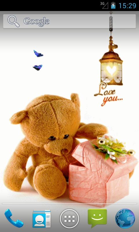 Cute Butterfly Phone Wallpaper Love Teddy Bear Live Wallpapers Android App Free Apk By