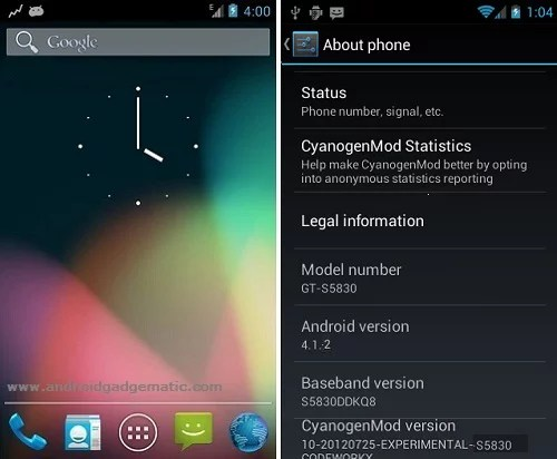 Install Galaxy Ace Android 4 2 2 CM10 1 Jelly Bean ROM | S5830