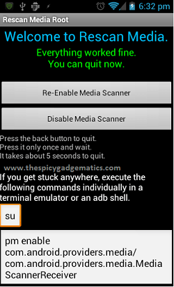 Update Android Media Player Library SD Card Files Without