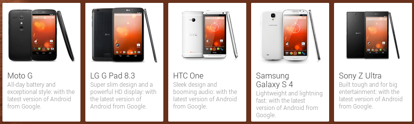 Devices on Google Play