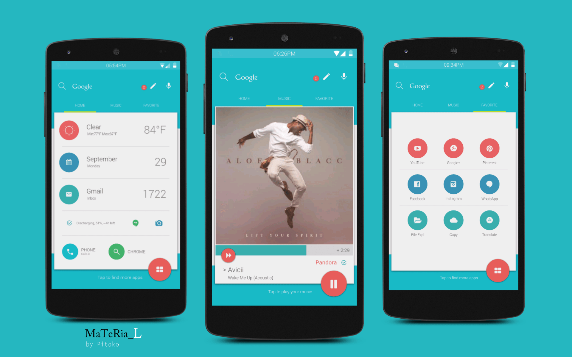Top Android Homescreen October 3rd Edition Material V2