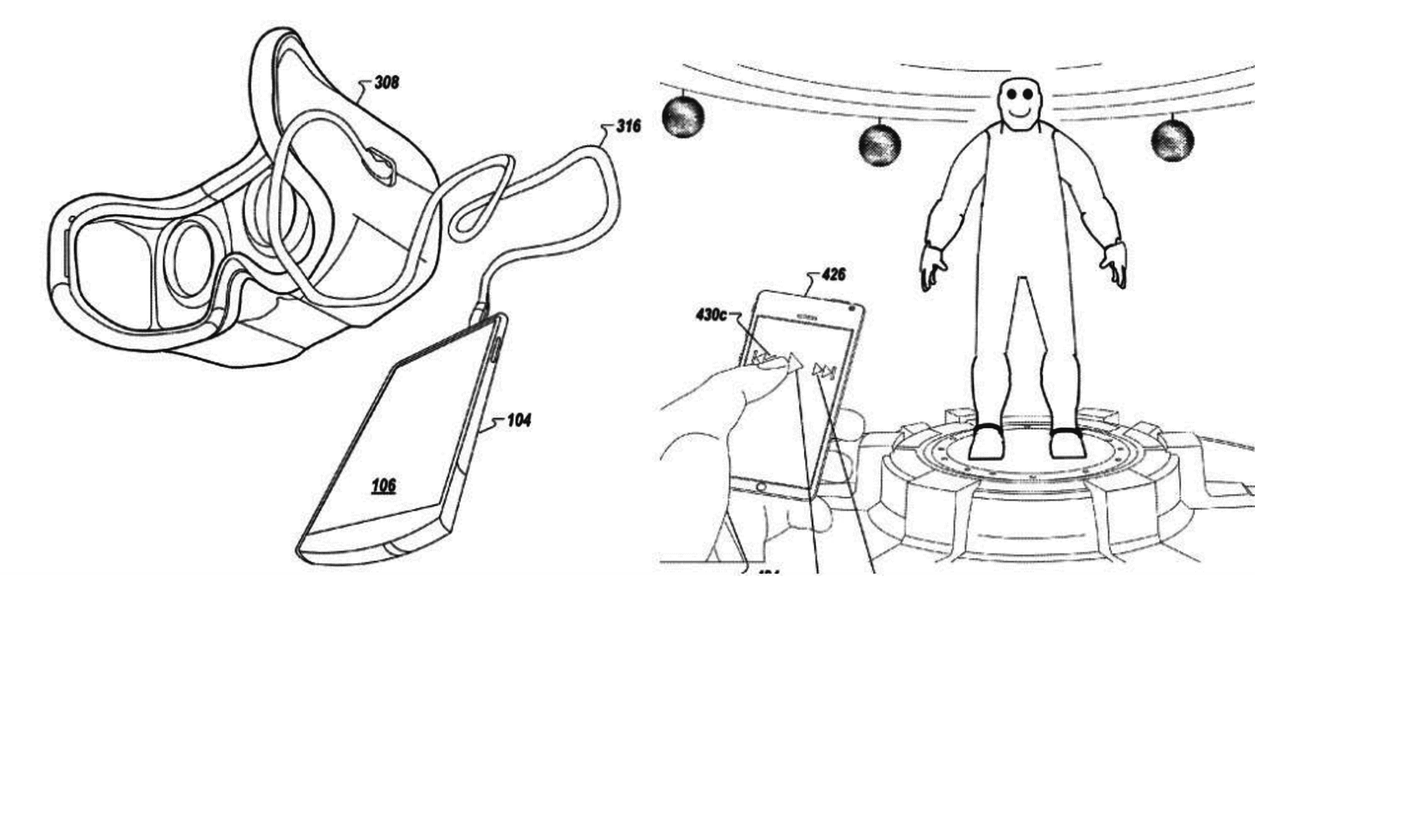 Google Patent Shows VR Headset Being Controlled By A Phone