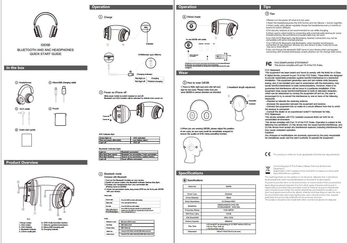 Google Active Noise Cancelling Headphones Pose for the FCC