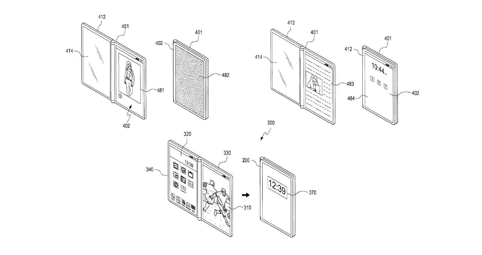 Samsung Exploring Triple-Screen Foldable Phone Designs