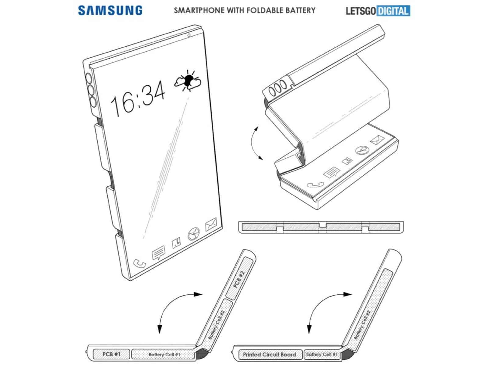 Samsung Sets Sights On Flexible Battery For Foldable