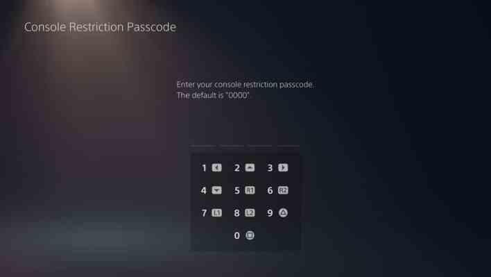Parental controls PS5 3