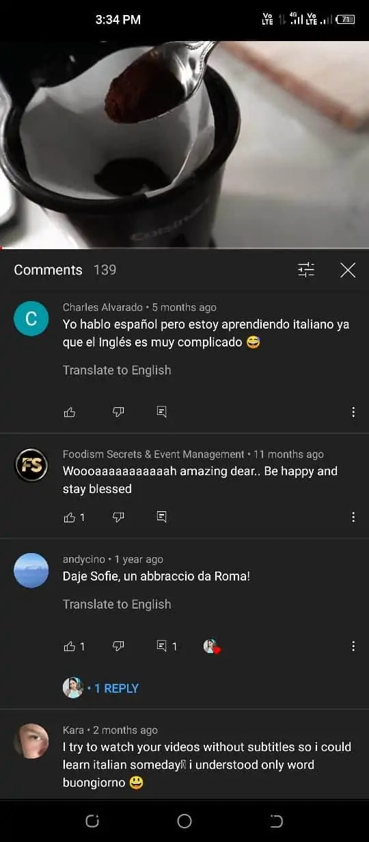 YouTube translate comments 2