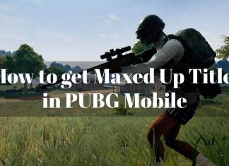 Maxed Up Title in PUBG Mobile