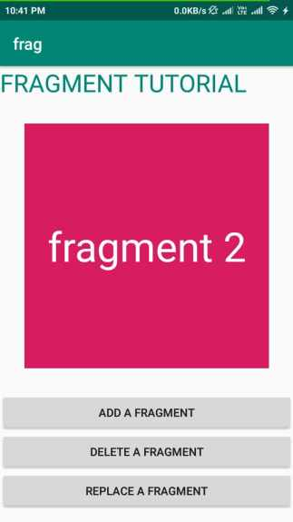 Fragment in Android(Add,Delete and Replace) 4