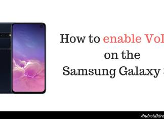 how to enable volte on the galaxy s10