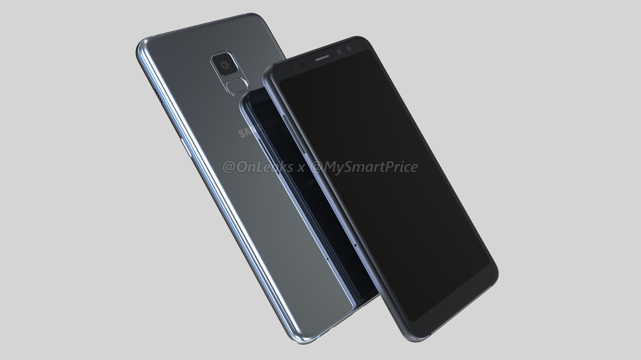 Samsung Galaxy A5 2018 and Galaxy A7 2018 renders specs surface AndroidHits