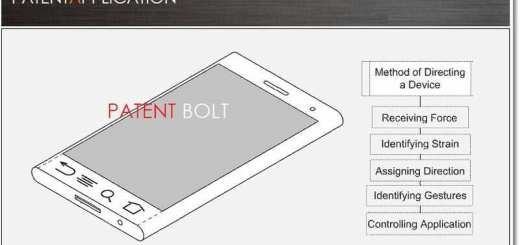 Google Patent buigbare telefoon
