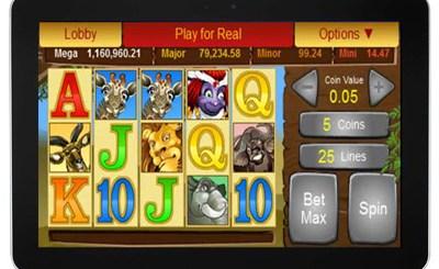 mega moola casino slot op tablet