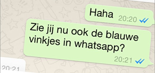 blauwe vinkjes Whatsapp