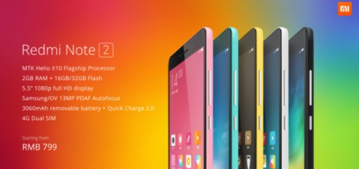 Xiaomi Redmi Note 2 specs