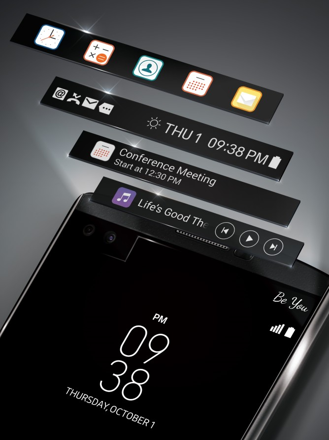 LG V10 tweede scherm