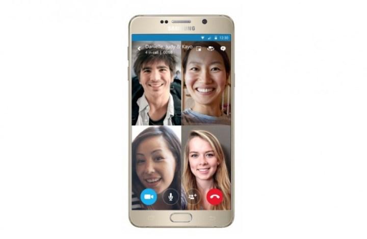Skype video groepsgesprek smartphone