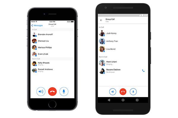 Facebook Messenger groeps videogesprekken