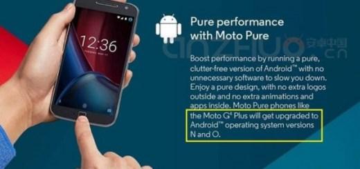 Android O Moto G4 Plus
