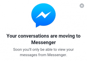 Facebook Messenger popup