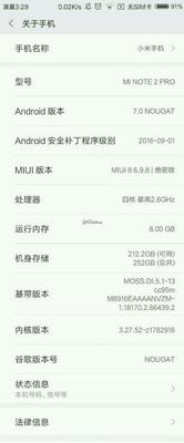 Xiaomi Mi Note 2 Pro specificaties