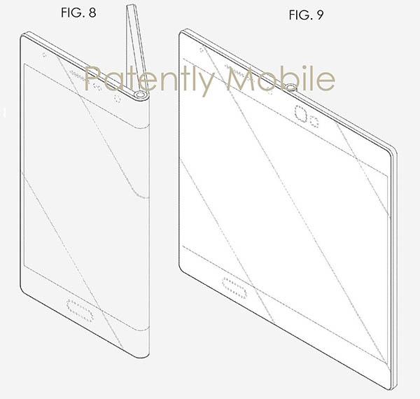 Samsung patent opvouwbaar scherm