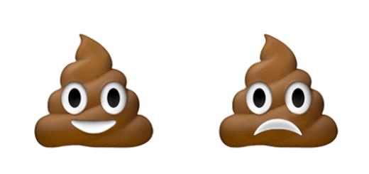 Emoji droevige drol
